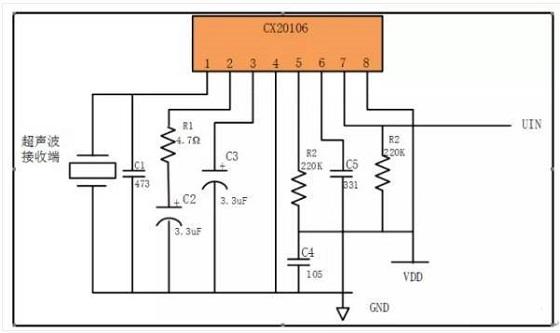 与测距的超声波频率40khz较为接近,可以利用它制作超声波检测接收电路