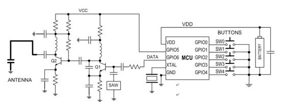 rfm60无线模块在遥控器中的应用设计