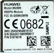 华为3G模块MU509 WCDMA