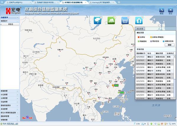 宏电  iWRIS水利信息监测管理平台